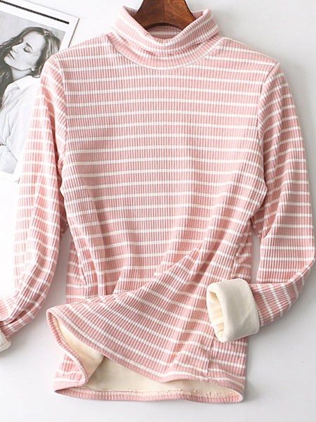 Sweet Cotton Evening Color-Block Daily Blouse