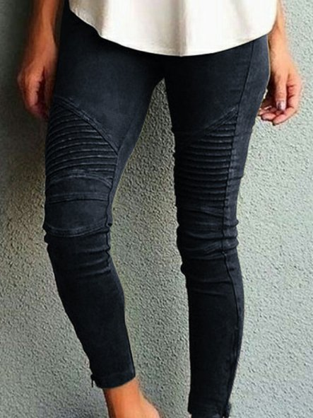Jean skinny couleur unie Fashion