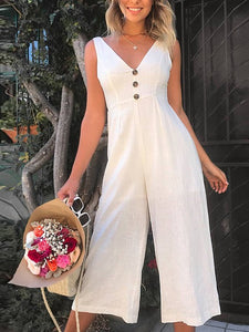 Casual Sleeveless High-Rise Jumpsuit