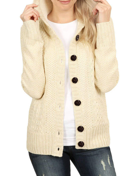 Solid Long Sleeve Hoodie Shift Coat