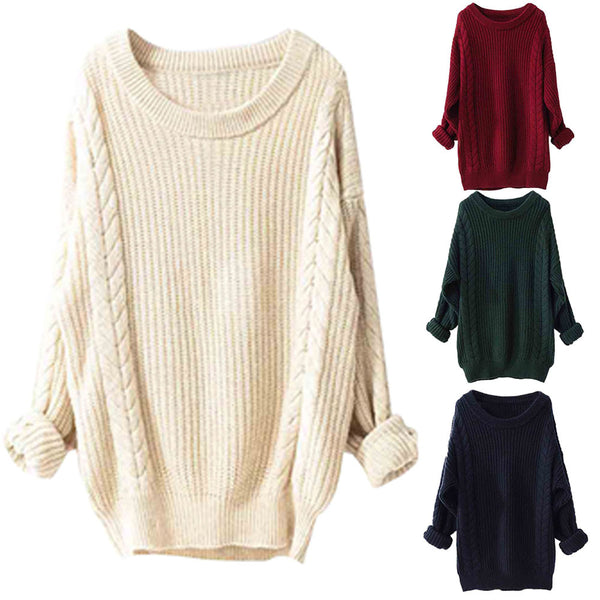 Acrylic Long Sleeve Casual Sweaters