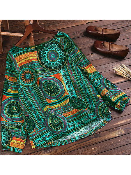 Tribal Long Sleeve Blouse