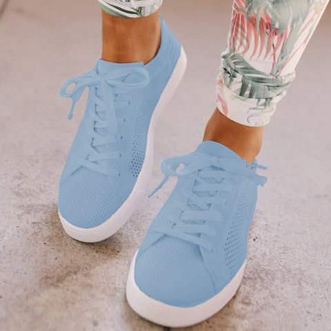00a862229ce17 Mesh Sneakers Women Hollow Out Lace Up Sneakers