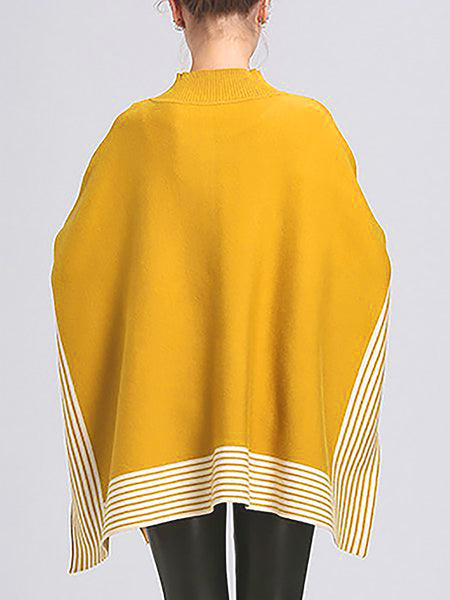 Casual Stripes Batwing Stripes Sweater