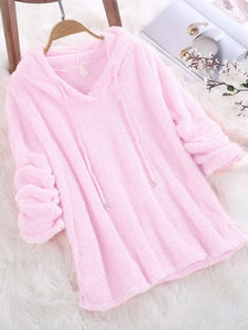 Fluffy Candy colors Long Sleeve Hoodie