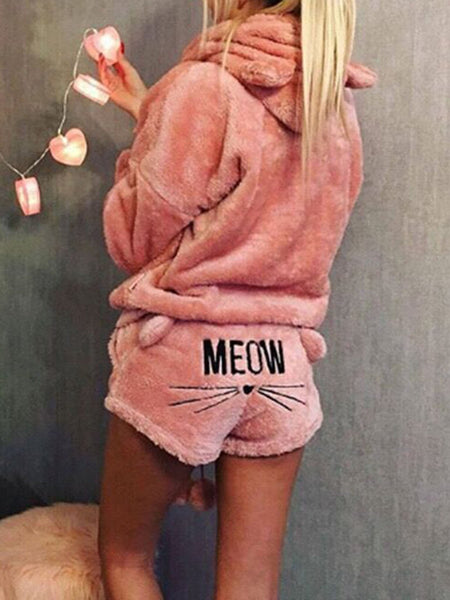Cute two piece hoodie costume for women