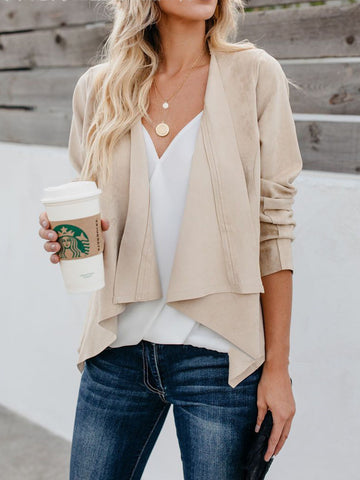 Long Sleeve Asymmetric Casual Cardigan