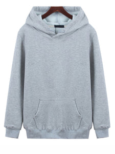 Casual hoodie with a solid drawcord