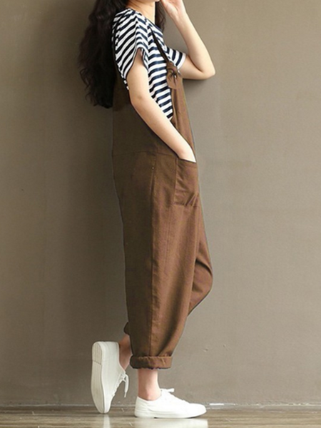 Cocoon Pockets Linen Casual Pants