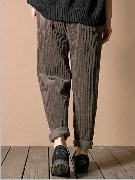 Corduroy Casual Pockets Pants