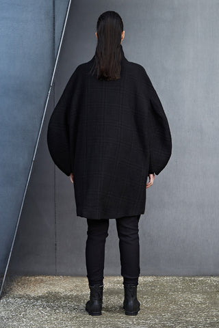 LONG OVERSIZED SLEEVE WOOL COAT - DUOLOGIA AW18