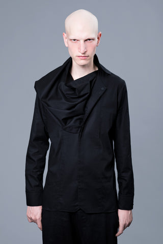 REMOVABLE DRAPE NECK LIGHT SHIRT