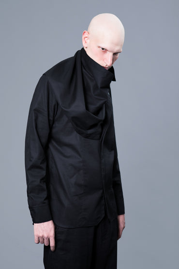 REMOVABLE DRAPE NECK SHIRT - DUOLOGIA AW18