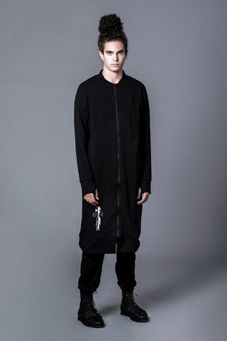 BALANCED ALIEN - LONG ZIP UP SWEATER WITH NEOPRENE BACK POCKET