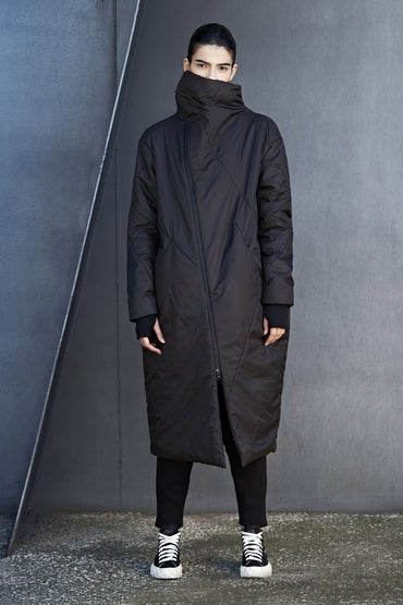 OVERSIZED NYLON DOWN COAT - DUOLOGIA AW18