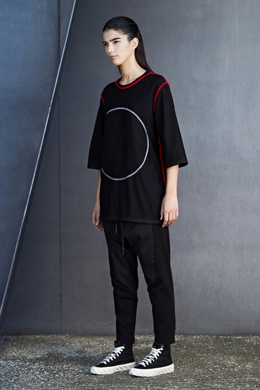 REVERSIBLE WHITE CIRCLE TEE - DUOLOGIA AW18 SIDE B