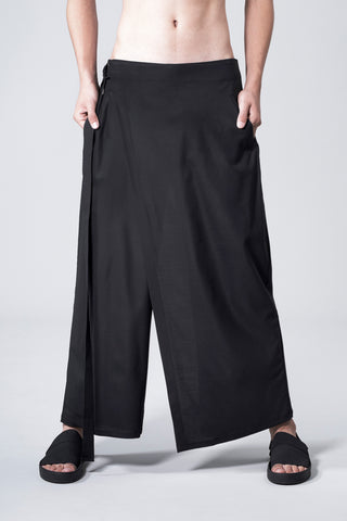 WIDE WRAP TROUSERS