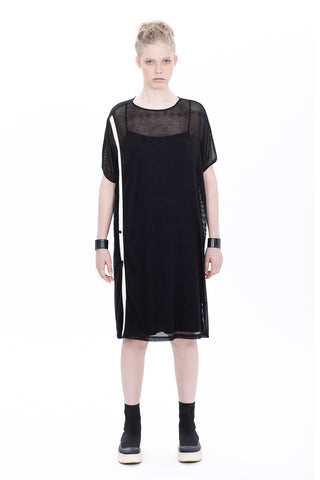 BS-BUTTONS SHEER TUNIC