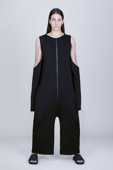 OVERSIZE CUT-OUT SLEEVES JUMPSUIT