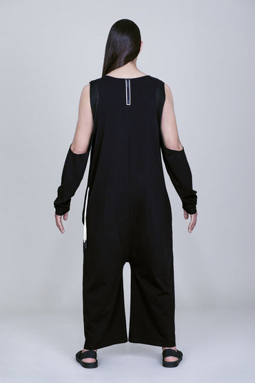 OVERSIZED CUT-OUT SLEEVES JUMPSUIT