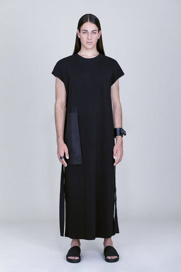 OVERSIZE FRONT POCKET MAXI DRESS