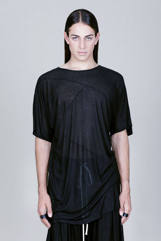 OVERSIZED HORIZONTAL LINES LIGHT T-SHIRT