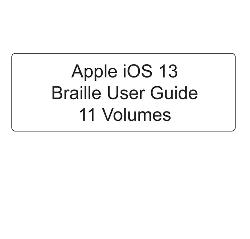 Front cover of the Apple iOS 13 Guide