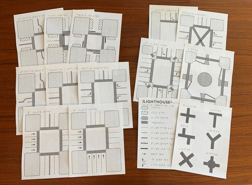 Tactile Intersection Diagrams - Braille