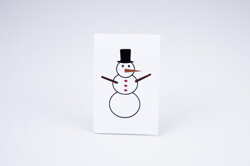 A Snowperson on card cover