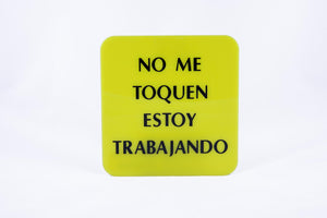 Square Guide Dog sign w/ Do Not Pet Me in Spanish, large print