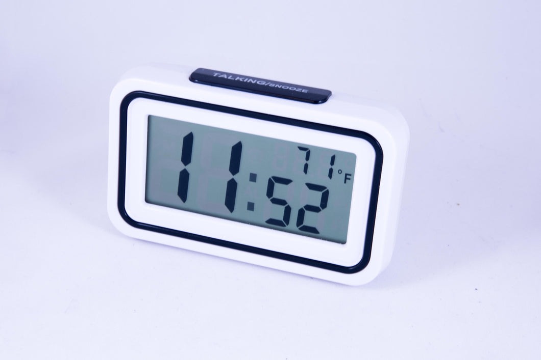 Large display Talking Clock w/ thermometer