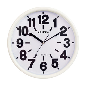 Large Wall Clock - White Face, Black Numbers