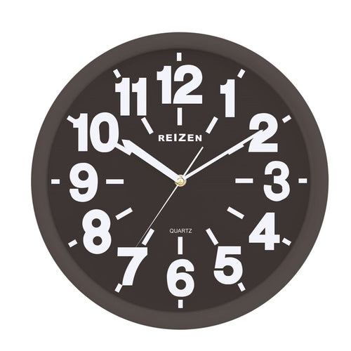 Large Wall Clock - Black Face, White Numbers