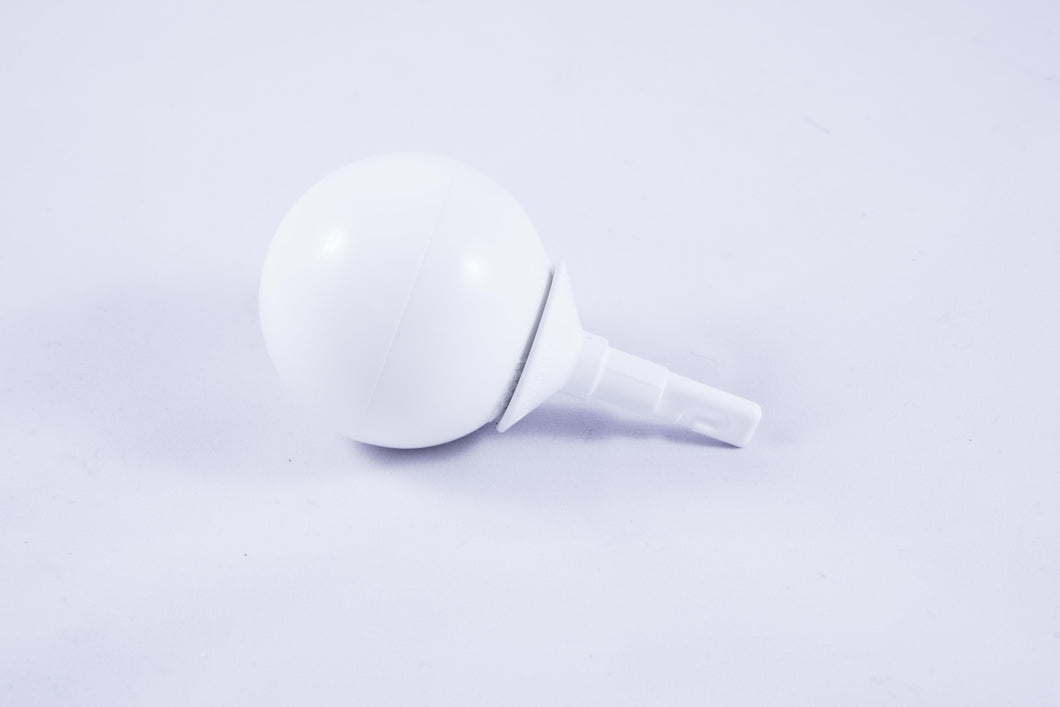 Ambutech Cane Tips: Eyelet Jumbo Roller Ball- White