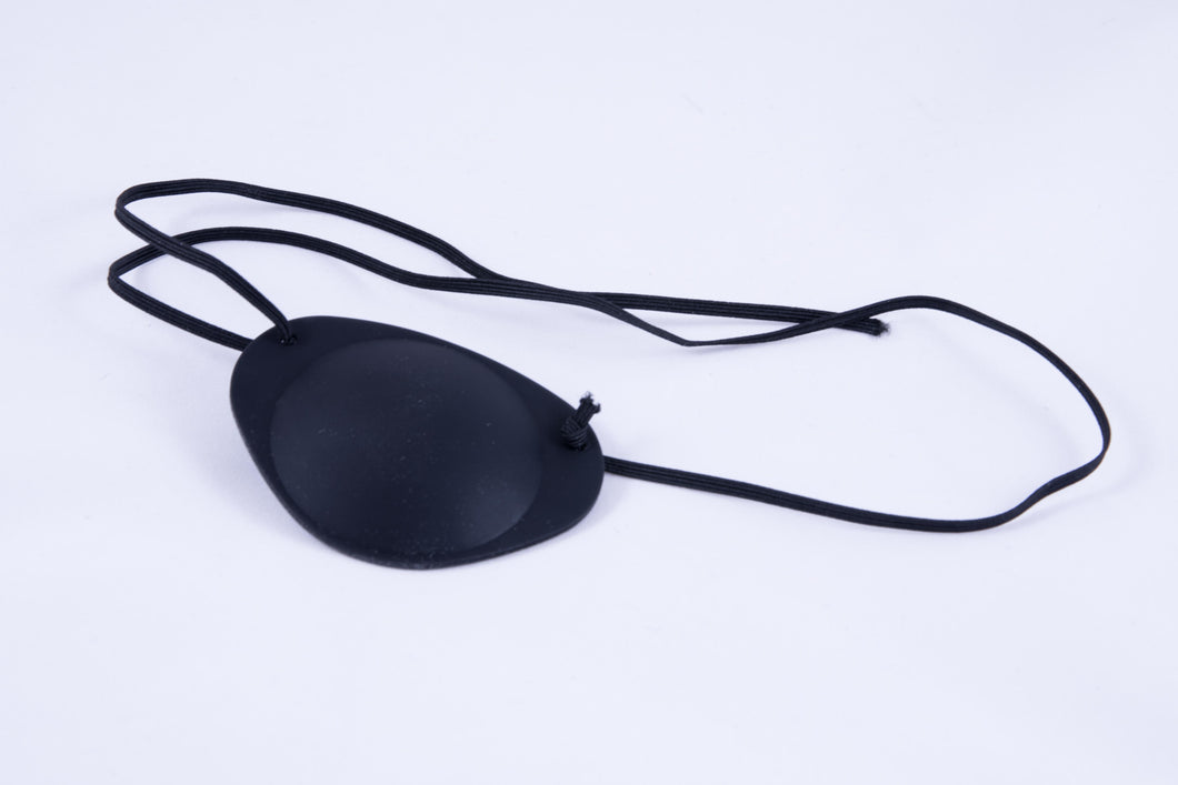 An eyepatch with adjustable tying length