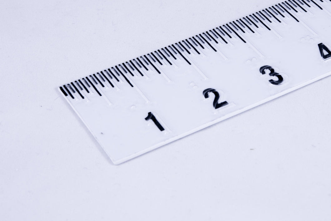Braille + Large Print Ruler