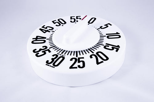 Low Vision Timer (Black on White)