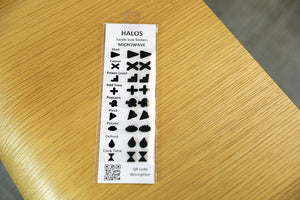 HALOS Microwave Tactile Overlay Stickers - 2 sets per pack