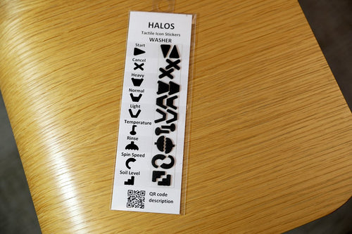 HALOS Washer Tactile Overlay Stickers - 2 sets per pack