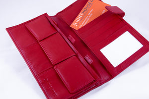 Red Leather Wallet / Money Organizer