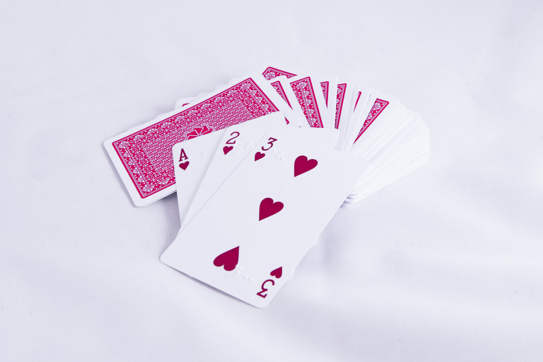 Braille Playing Cards - Plastic