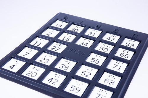 Braille BINGO Boards, Plastic