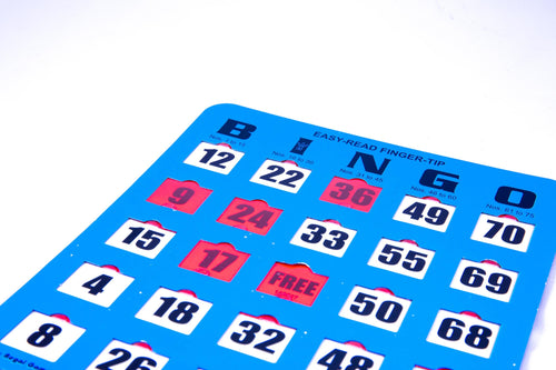 Easy-Read Finger-Tip Bingo Cards
