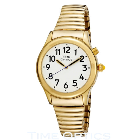 Ladies Talking Watch with Expansion Band - Gold (Dual Voice)