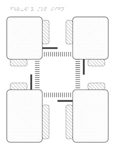 Tactile Intersection Diagrams: Braille, Large Print & Tactile Graphics - Comb Bound