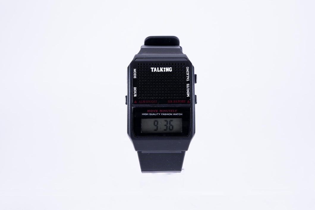 Talking Watch, Square: English