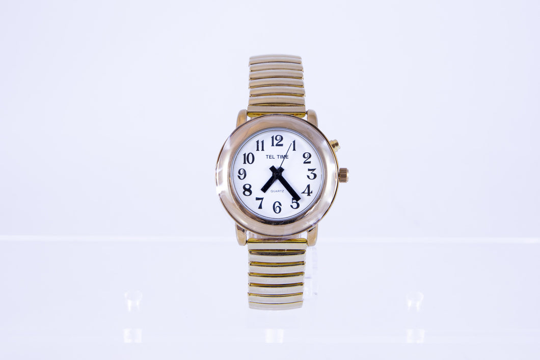 One Button Talking Watch - Gold