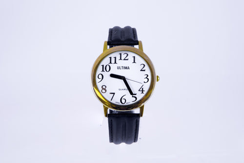 Men's Low Vision Watch - Leather Band