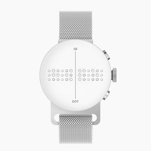Dot Watch with Magnetic Mesh Band - Head on