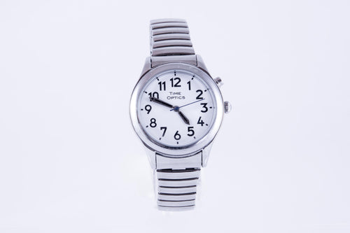 Ladies Talking Watch with Expansion Band - Silver (Dual Voice)